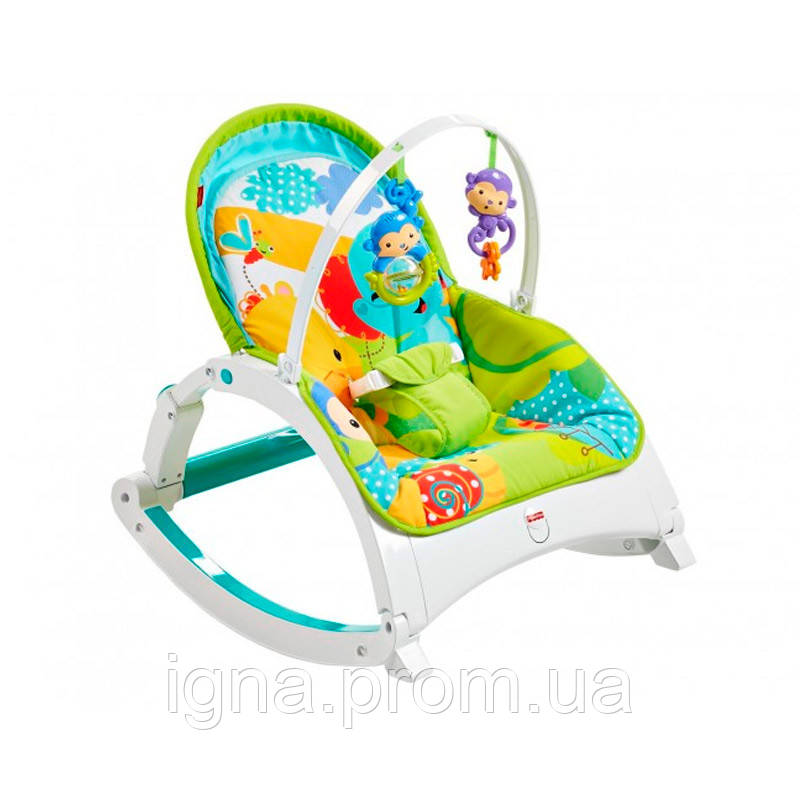 """Портативне крісло-гойдалка """"Зростаймо разом"""" Fisher-Price"""