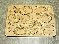 Детский развивающий пазл сортер из дерева «Овощи» (2102)