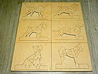 Набор деревянных пазлов сортеров для развития детей «Собачки» (2108)