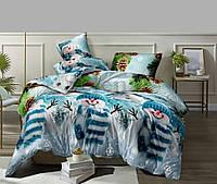Новогоднее постельное белье Бязь 2-Снеговик (Двуспальный)