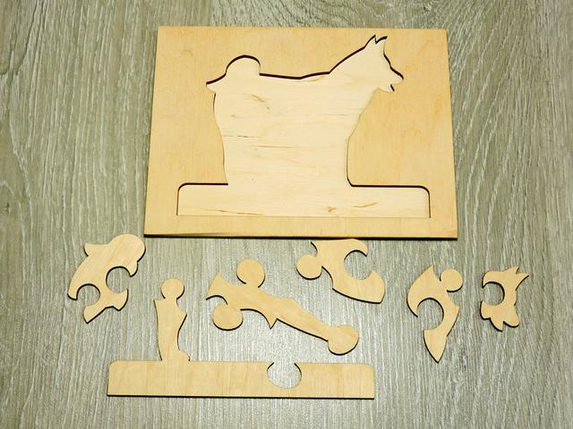 Детский развивающий пазл сортер из дерева