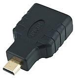 HDMI F to MicroHDMI M (Type D) переходник для вывода видео из устройств с разъёмом micro HDMI, фото 2
