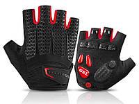 Велосипедные перчатки Rockbros без пальцев XXL Чорний