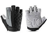 Велосипедные перчатки RockBros без пальцев XL Сірий