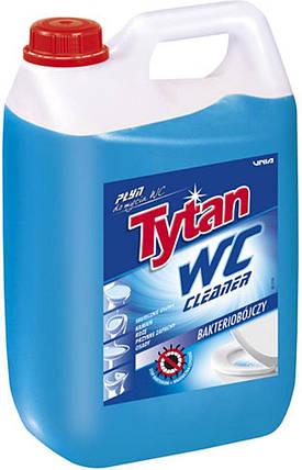 Засіб для миття туалетів та видалення накипу Tytan WC Морська свіжість антибактеріальний (синій) 5 л., фото 2