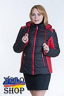 Жіноча куртка №15 (2-х кольорова) великі розміри 44-56 р, фото 1