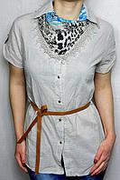Женская рубашка c шарфиком art 8388