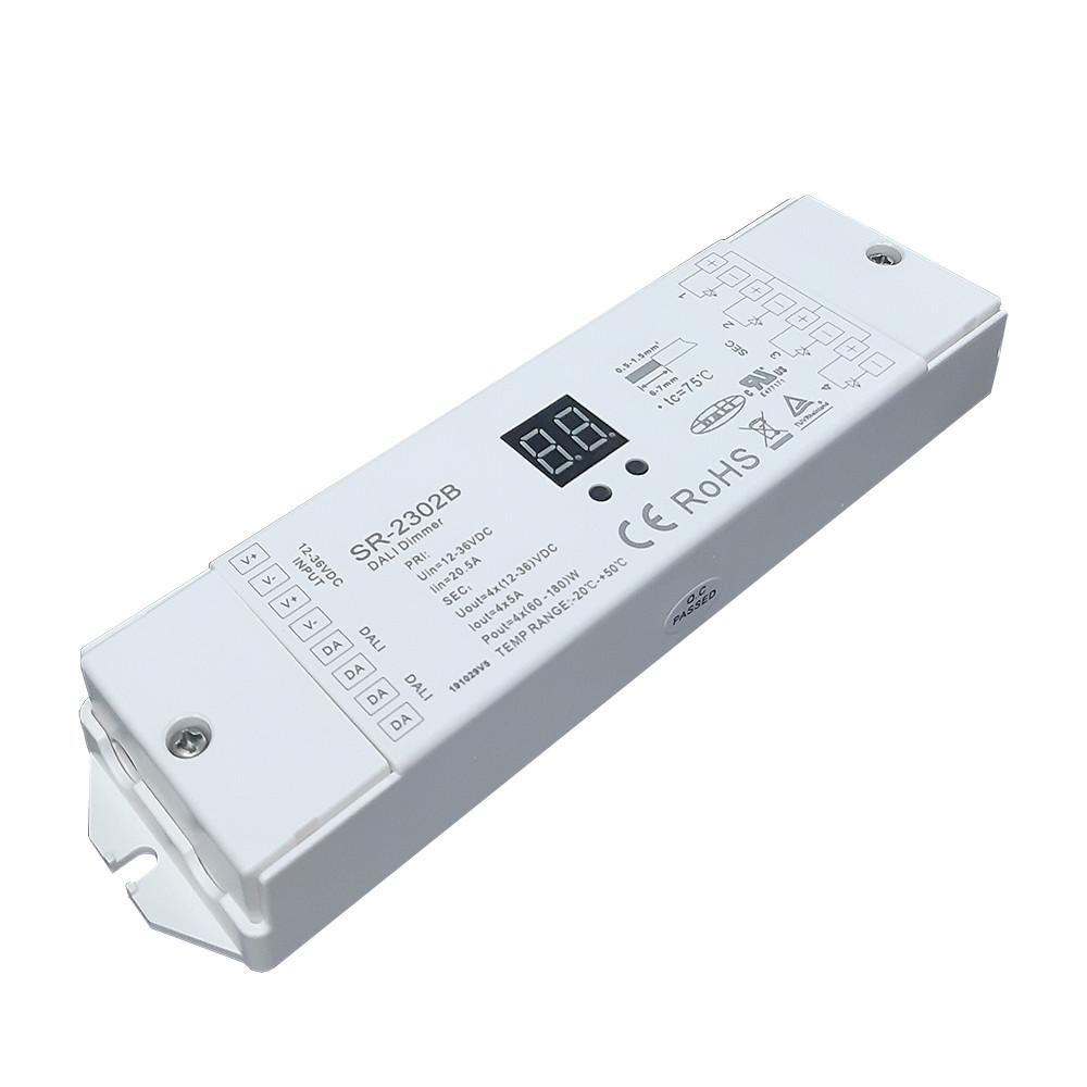 Контроллер диммера DALI SR-2302B 12-36V, 240-720W, 1адрес 4 канала SUNRICHER 4859