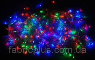 """Гирлянда  """"Нить"""" черный  кабель  разноцветная  200  ламп"""