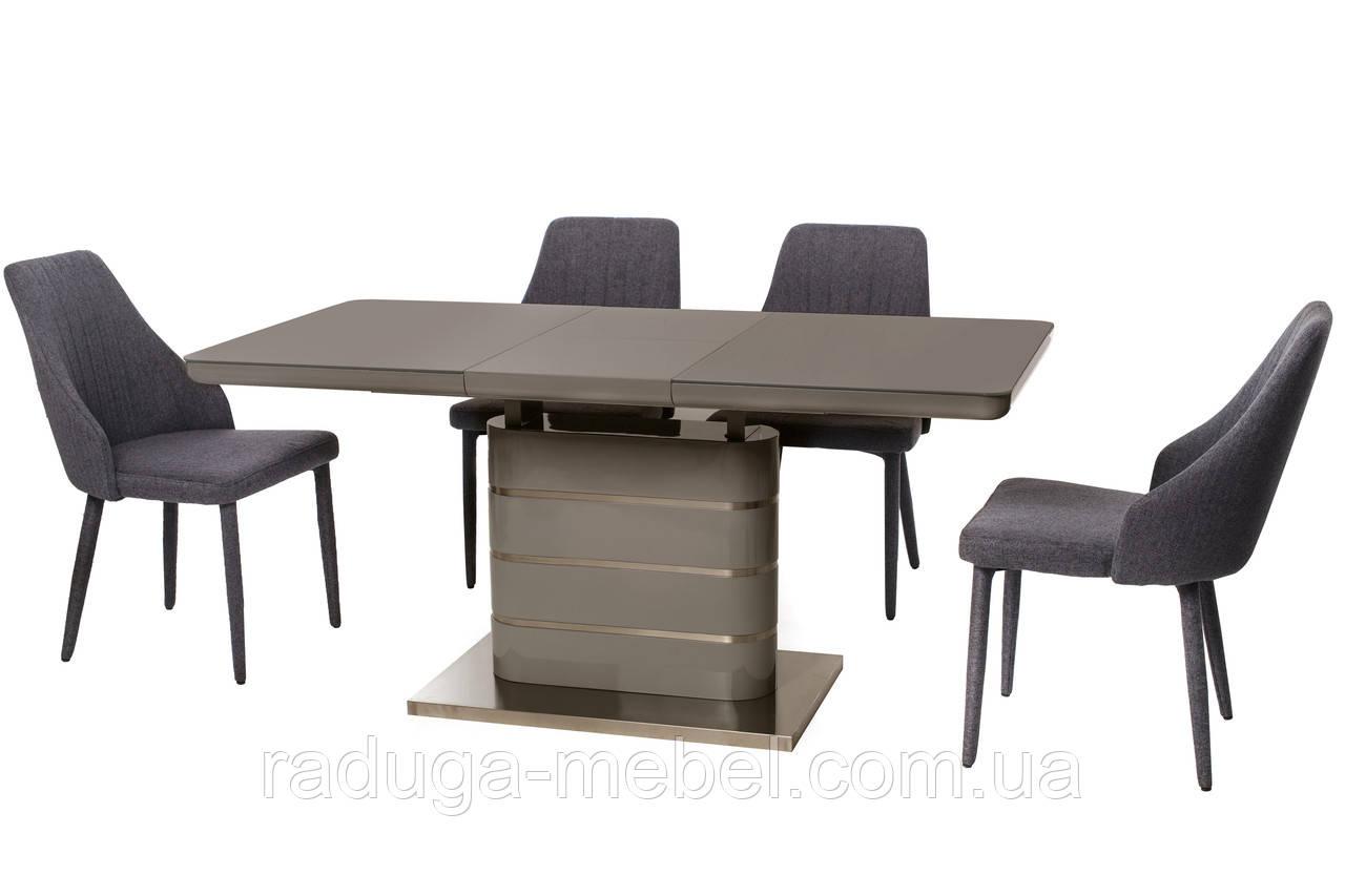 Стол МДФ+стекло TM-52-1 серый