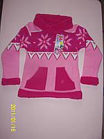 Теплый свитер  для девочки 0-1, 4-5, 6-7, 8-9 лет. Турция! Кофта, джемпер, свитер детские