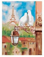"""Картина по номерам Идейка """"Весна в Париже"""" 40х50 см. КНО2128. Без коробки"""