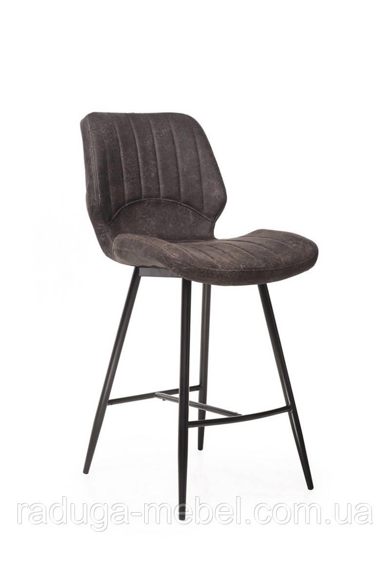 Полубарный стул B-19 коричневый антик
