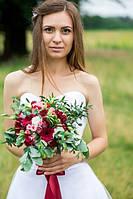Свадебное оформление в цвете марсал.