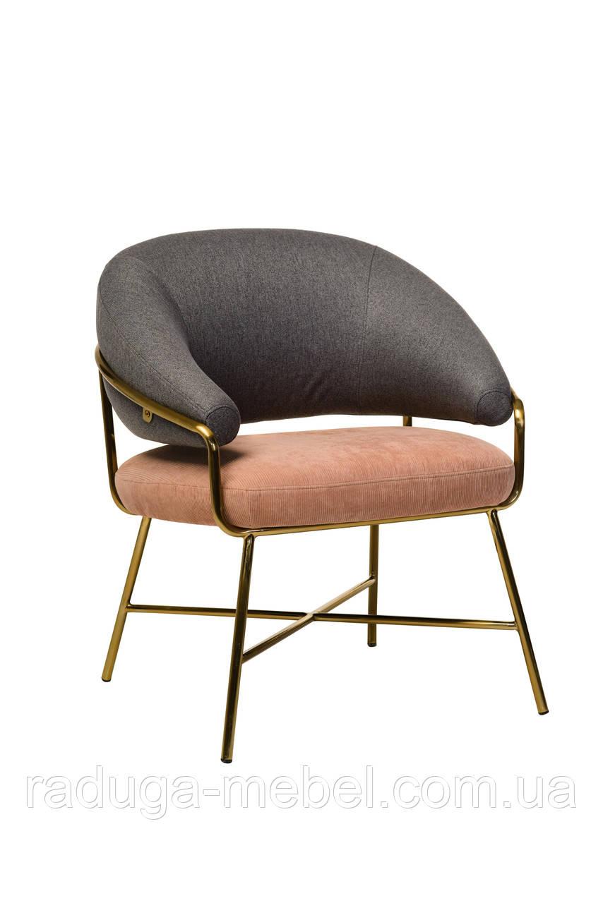"""Кресло """"Адель"""" серый + розовый"""