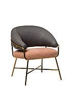 """Кресло """"Адель"""" серый + розовый, фото 1"""