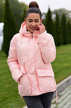 Куртка женская пудра AAA 126031S