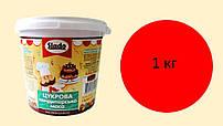 Цукрова паста-мастика 1 кг, червона