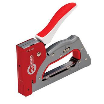 Степлер строительный 3 в 1, под скобу 11.3*0.7*6-14 мм, гвоздь 14мм, шпилька 14мм. INTERTOOL RT-0104