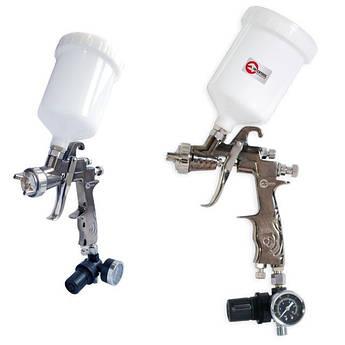 Краскопульт пневматический LVLP, с редуктором, верхний пластиковый бачок INTERTOOL PT-0130