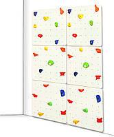 Детский скалодром для дома и спортзала с 40 зацепами из штучного камня, до 100кг, белый 150х2.1х225 см 61571