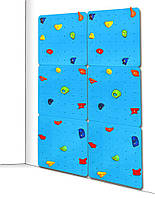 Детский скалодром для дома и спортзала с 40 зацепами из штучного камня, до 100кг, синий 150х2.1х225 см 61572