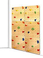 Детский скалодром для дома и спортзала с 40 зацепами из штучного камня, до 100кг, двойной 150х2.1х225 см 61575