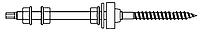 комплект - шпилька (WS 9211) + 3 гайки (DIN 6923) + шайба (DIN 9021) + шайба EPDM (WS 9218)