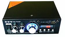 Стерео усилитель звука Bluetooth со встроенным медиаплеером и FM тюнером с поддержкой USB 50W  BSW BS-701BT
