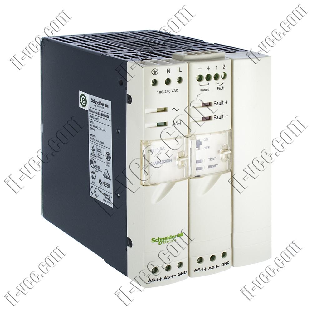 Импульсный блок питания As-I+контроль заземления 4А Schneider Electric ASIABLD3004, 30VDC 4.8A 144W