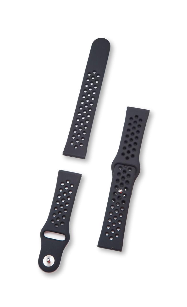 Ремінець BeWatch для смарт-годин Xiaomi Amazfit Pace/Stratos Чорний (10201011)