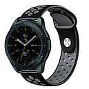 Ремешок BeWatch для смарт-часов Samsung Galaxy Watch 42 мм Black/Gray (1010114.2), фото 2