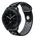 Ремінець BeWatch для смарт-годин Samsung Galaxy Watch 42 мм Black/Gray (1010114.2), фото 2