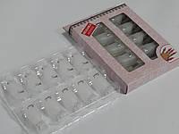 Набор многоразовых пластиковых клипс (прищепок) для снятия гель-лака.Белые.