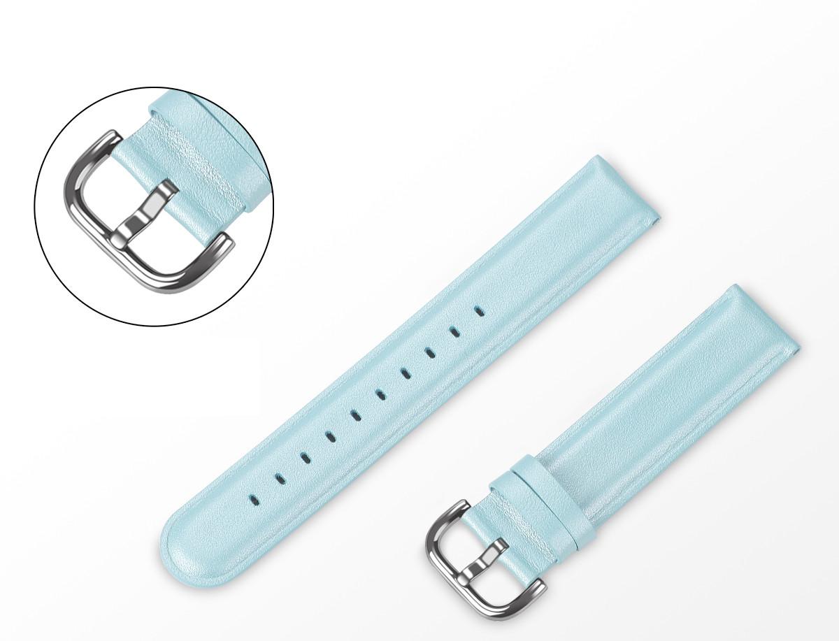 Ремінець BeWatch шкіряний 20мм для Amazfit BIP   Bip Lite   GTS   Gtr 42mm М'ятний L (1210197.1 L)