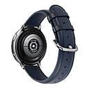 Ремешок BeWatch кожаный 20мм для Amazfit BIP | Bip Lite | GTS | Gtr 42mm Синий L (1210189.1L), фото 3