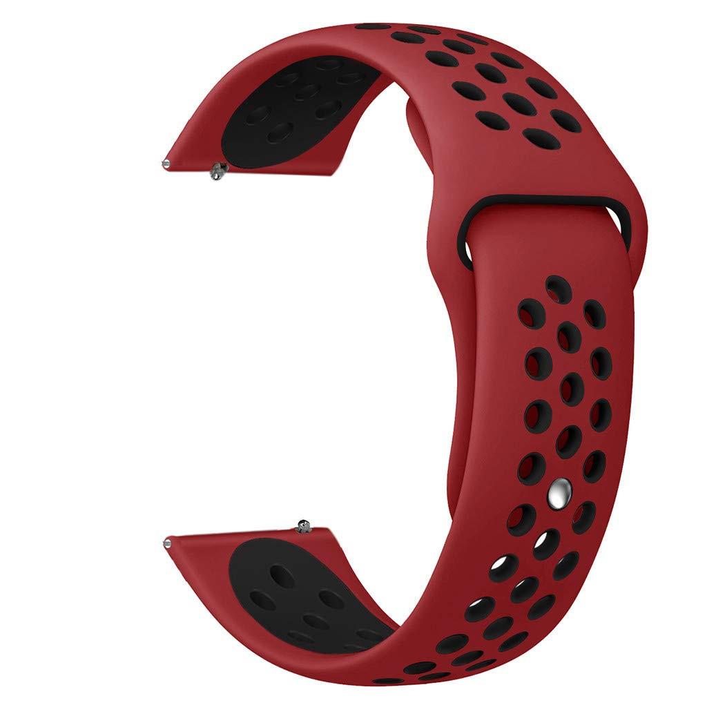 Силіконовий ремінець 20мм BeWatch універсальний з швидкознімним кріпленням Червоно - чорний (1010131)
