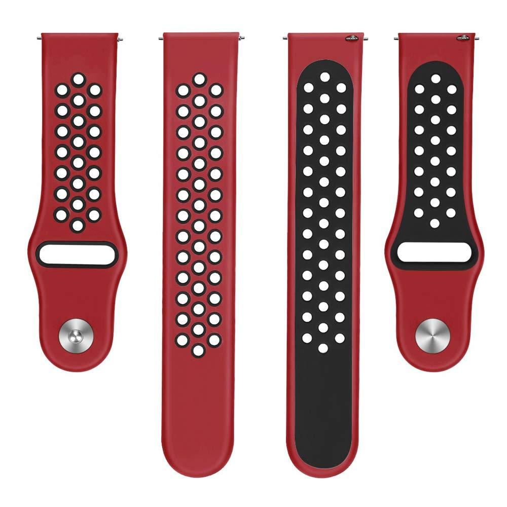 Ремешок 22мм BeWatch силиконовый универсальный Red-Black (1020131)