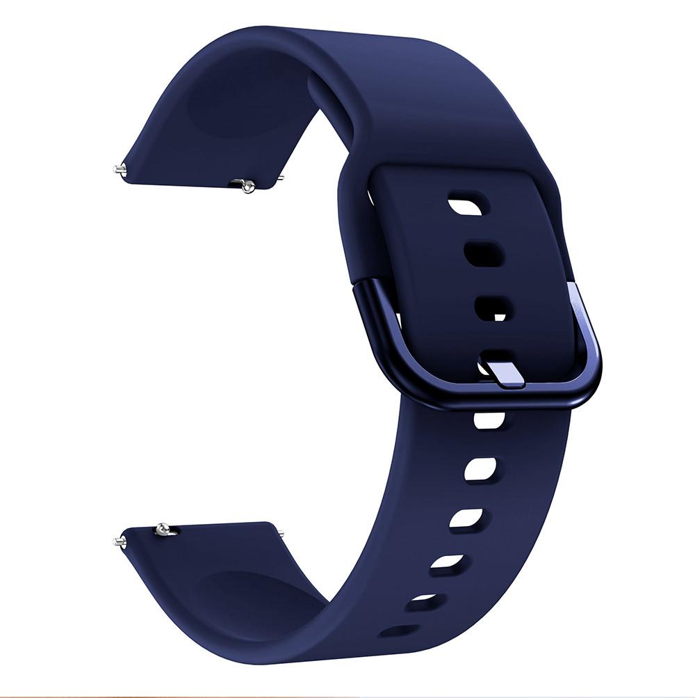 Ремінець універсальний для годин силіконовий 20мм NewColor Темно-Синій (1012389)