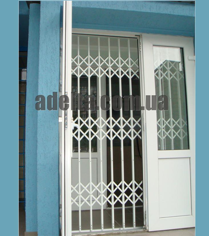 Решетки раздвижные на двери Шир.1950*Выс2200мм для аптек