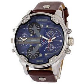 Мужские Часы Наручные Disel DZ7314 (Дизель) Коричневый ремешок Синий цф чоловічі часи годинник ГАРАНТИЯ