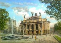 Картина для дома и офиса Городской пейзаж