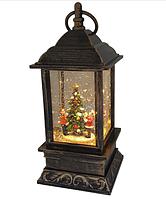 "Декоративный новогодний светильник фонарь со снегом внутри ""Kids&Tree"""