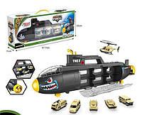 Игрушка подводная лодка с набором машин GT227698