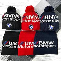 Набор (шапка+баф)  разные цвета BMW Motorsport