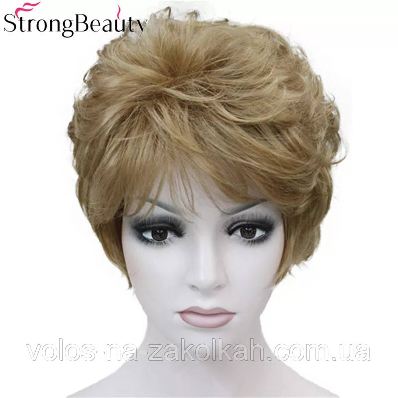 Парик короткая стрижка светлорусый блонд 1123#10