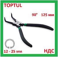 Щипцы для снятия стопорных колец, внутренних, кольцесъемник, съемник, клещи, плоскогубцы, Toptul DCAC1205