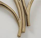 Настенный декор Листья Гинкго W3 см, L74 см алюминий золото, фото 3