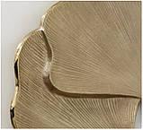 Настенный декор Листья Гинкго W3 см, L74 см алюминий золото, фото 2