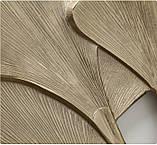 Настенный декор Листья Гинкго W3 см, L74 см алюминий золото, фото 4